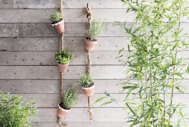 DIY Hanger met potjes