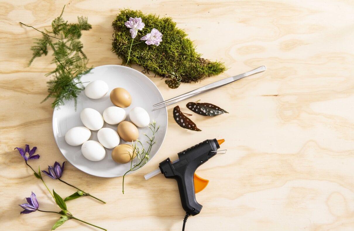 DIY eiervaasjes benodigdheden