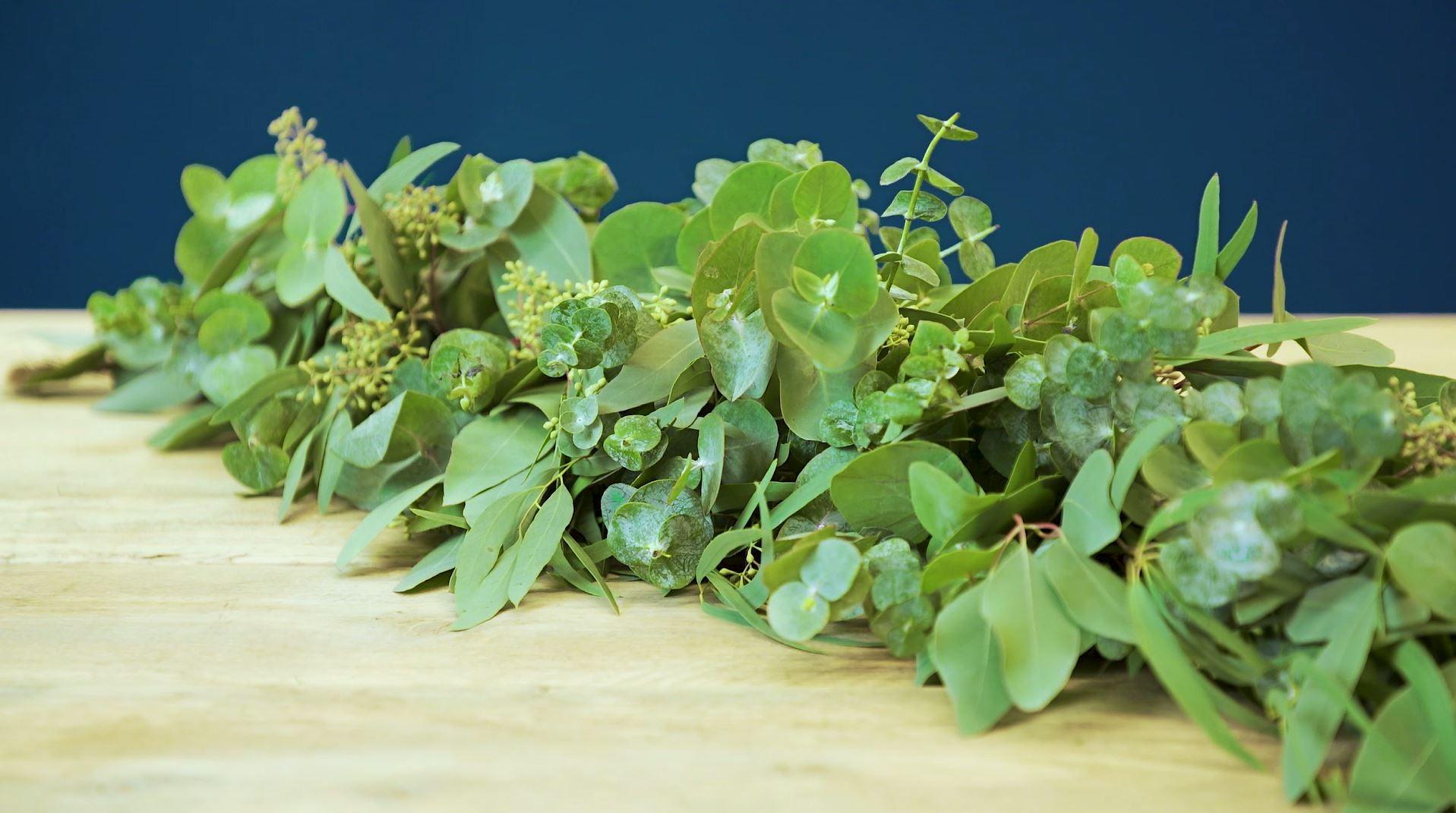 DIY groene tafelloper: resultaat