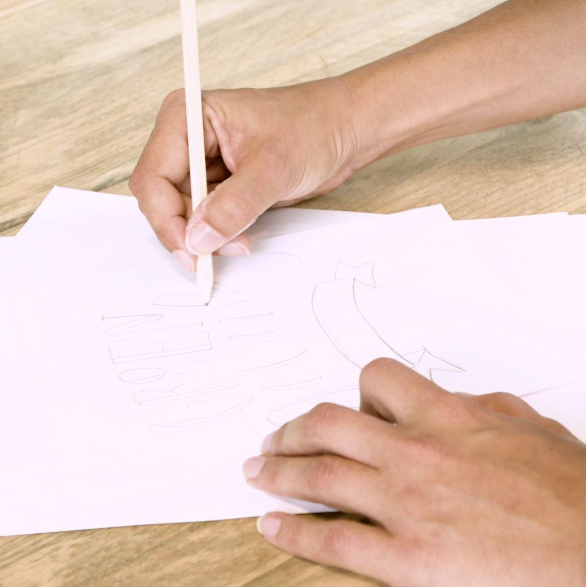 DIY Handlettering stap 2: letters
