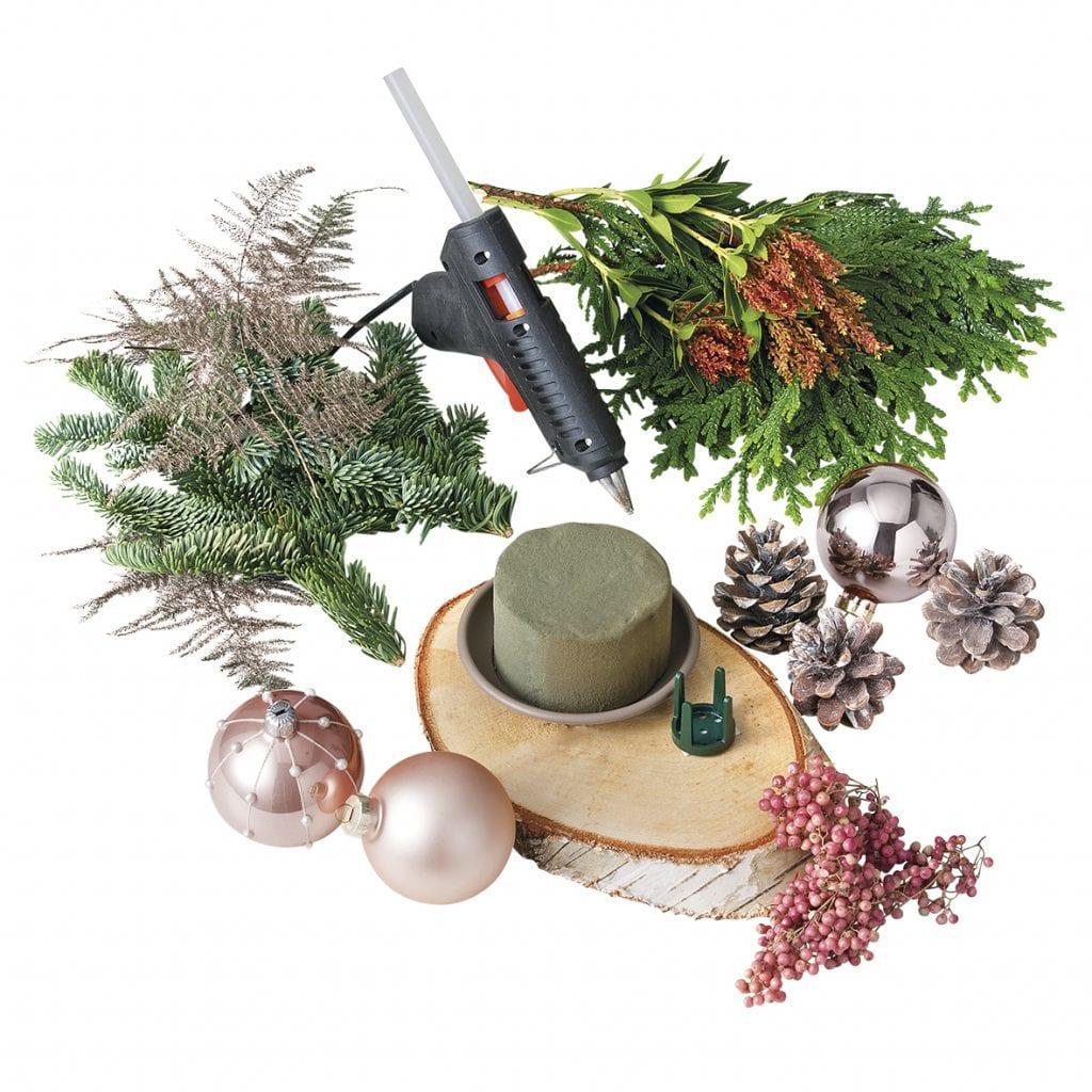 DIY Kerststukje benodigdheden