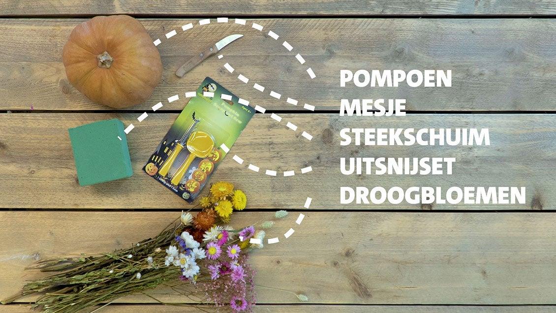 DIY pompoen versieren benodigdheden