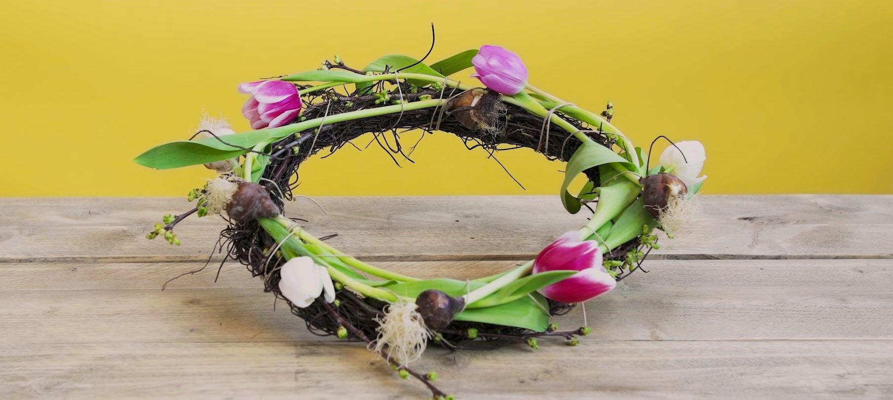 DIY Tulpenkrans resultaat