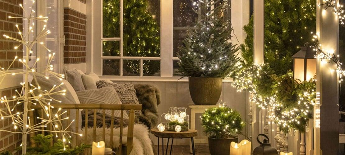 Kerstverlichting buiten kleuren