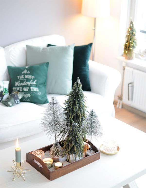 Kersttafereeltje op salontafel
