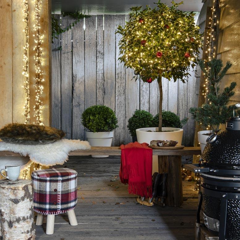 Kerstversiering voor buiten, tuinmeubelen