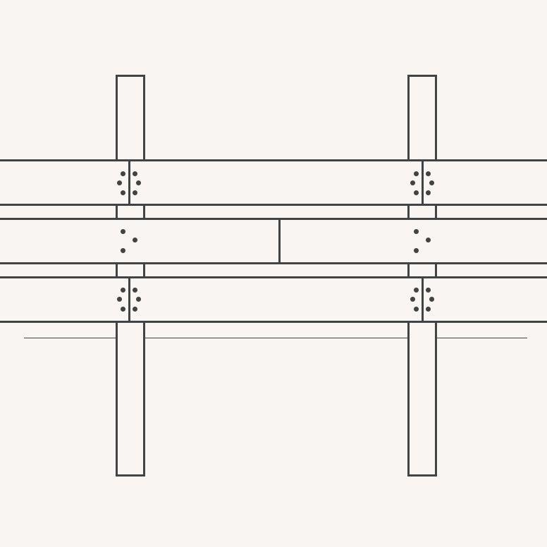 Horizontale planken aan schutting