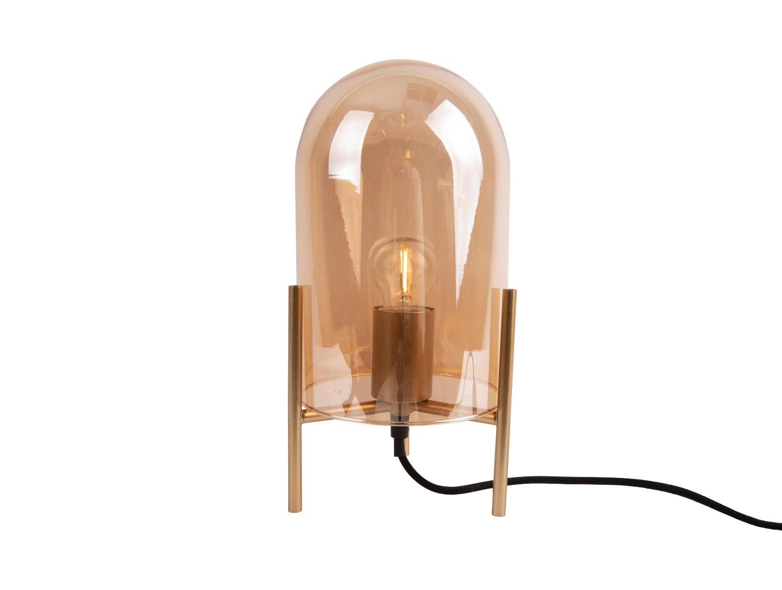 Tafellamp glass bell Amber bruin in de Intratuin webshop