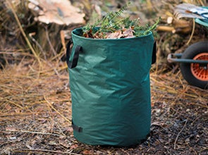 Afvalzakken en tuintrolleys