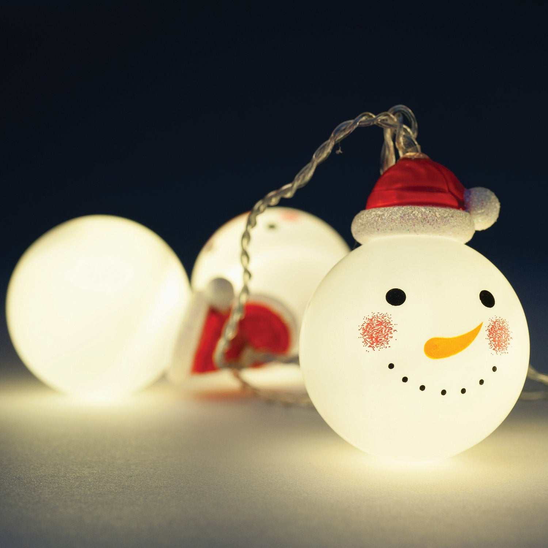 Verlichtingssnoer sneeuwbal LED 1,6 m warm wit