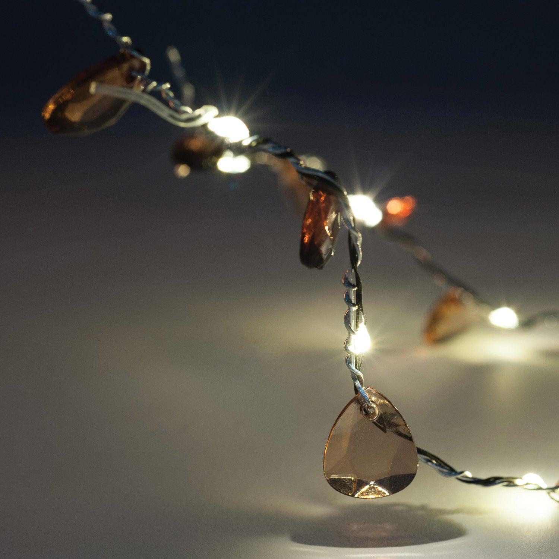 Decoratief verlichtingssnoer koper 60 cm warm wit