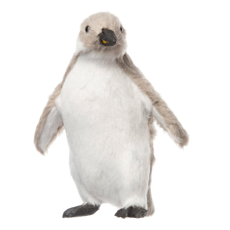 Intratuin babypinguin pluche 7,5 x 8,5 x 11 cm grijs / wit