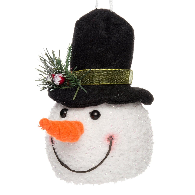 Intratuin lichtfiguur sneeuwpop hoofd met hoed D 9 H 14 cm