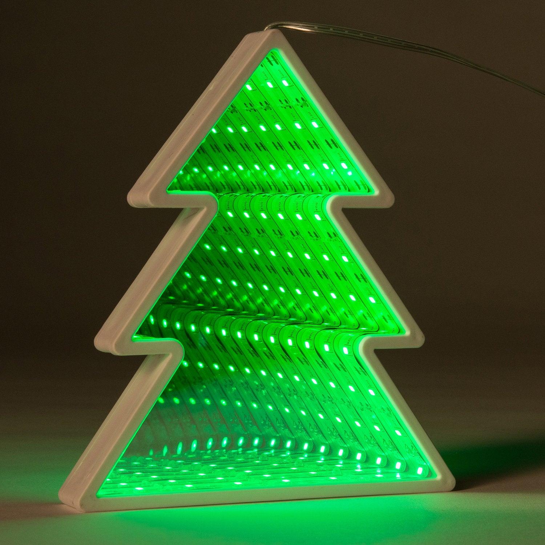 Intratuin lichtfiguur kerstboom oneindig 13 x 2 x 15 cm groen