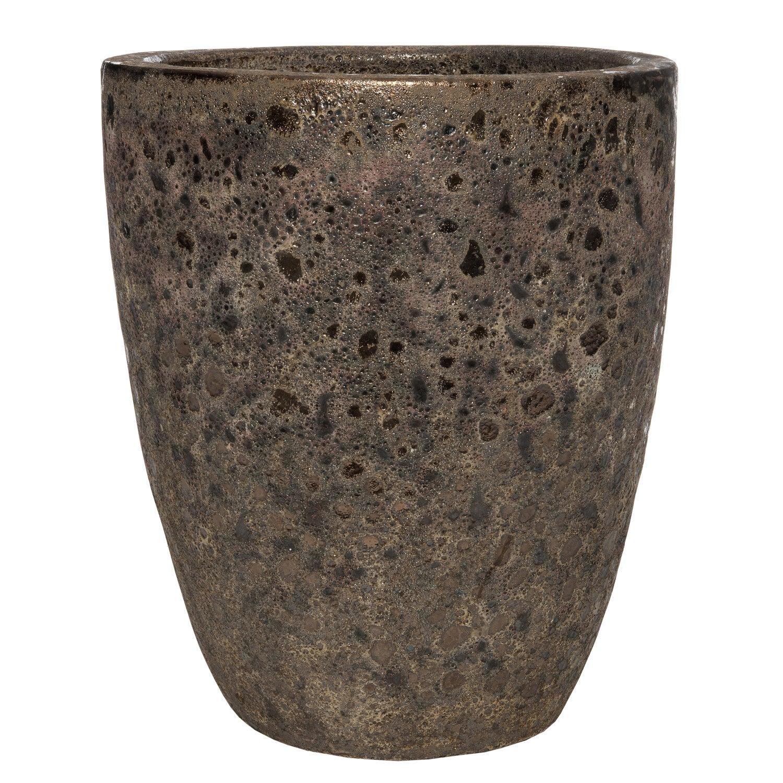 Intratuin bloempot Bubbel bruin D 35 H 44 cm