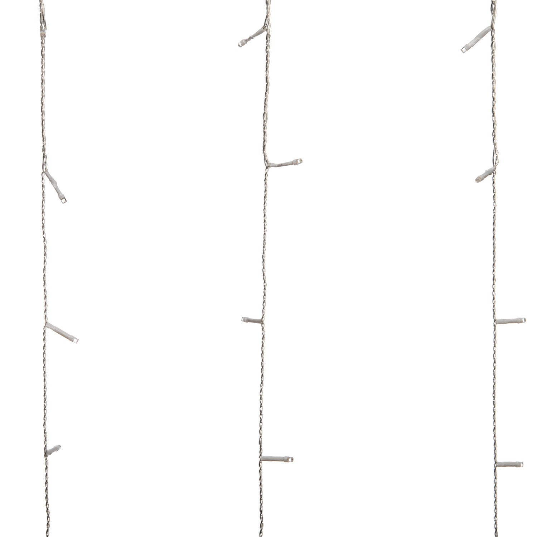 Gordijnverlichting LED 140 x 300 cm warm wit