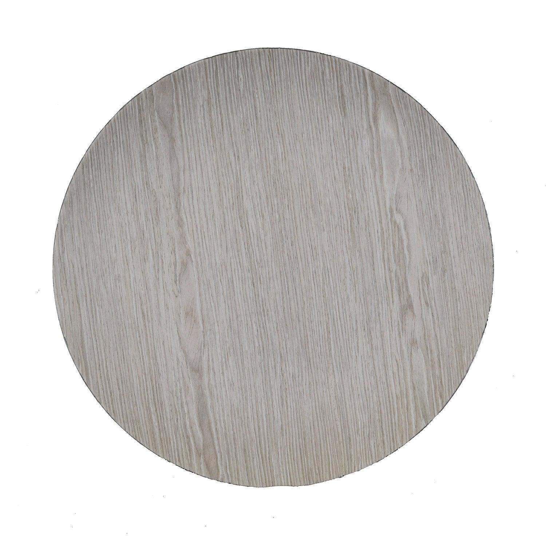 Bord houtdesign D 33 cm whitewash