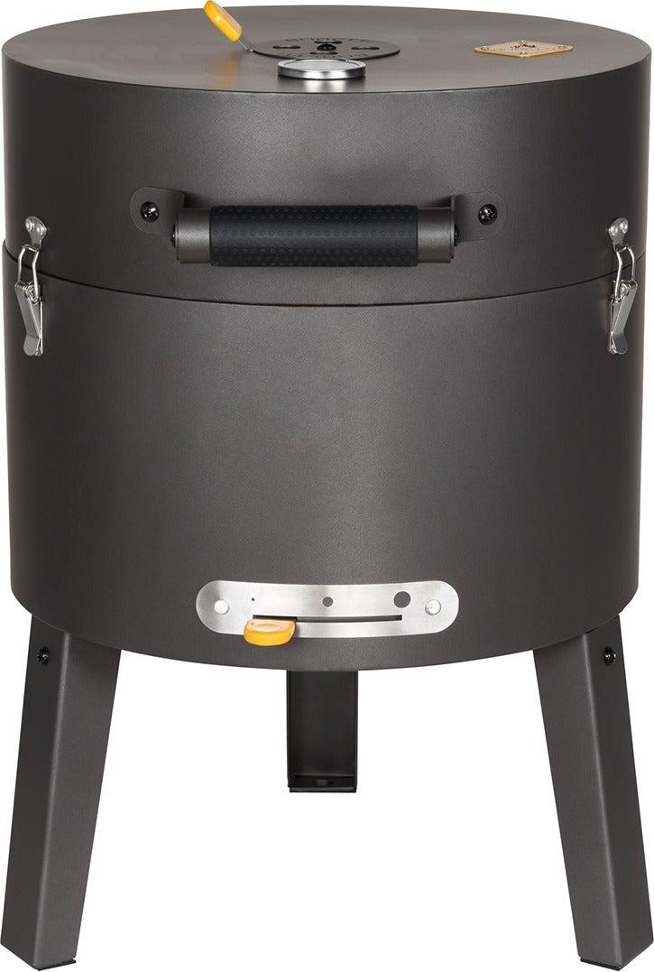 Boretti Tonello houtskoolbarbecue zwart / geel