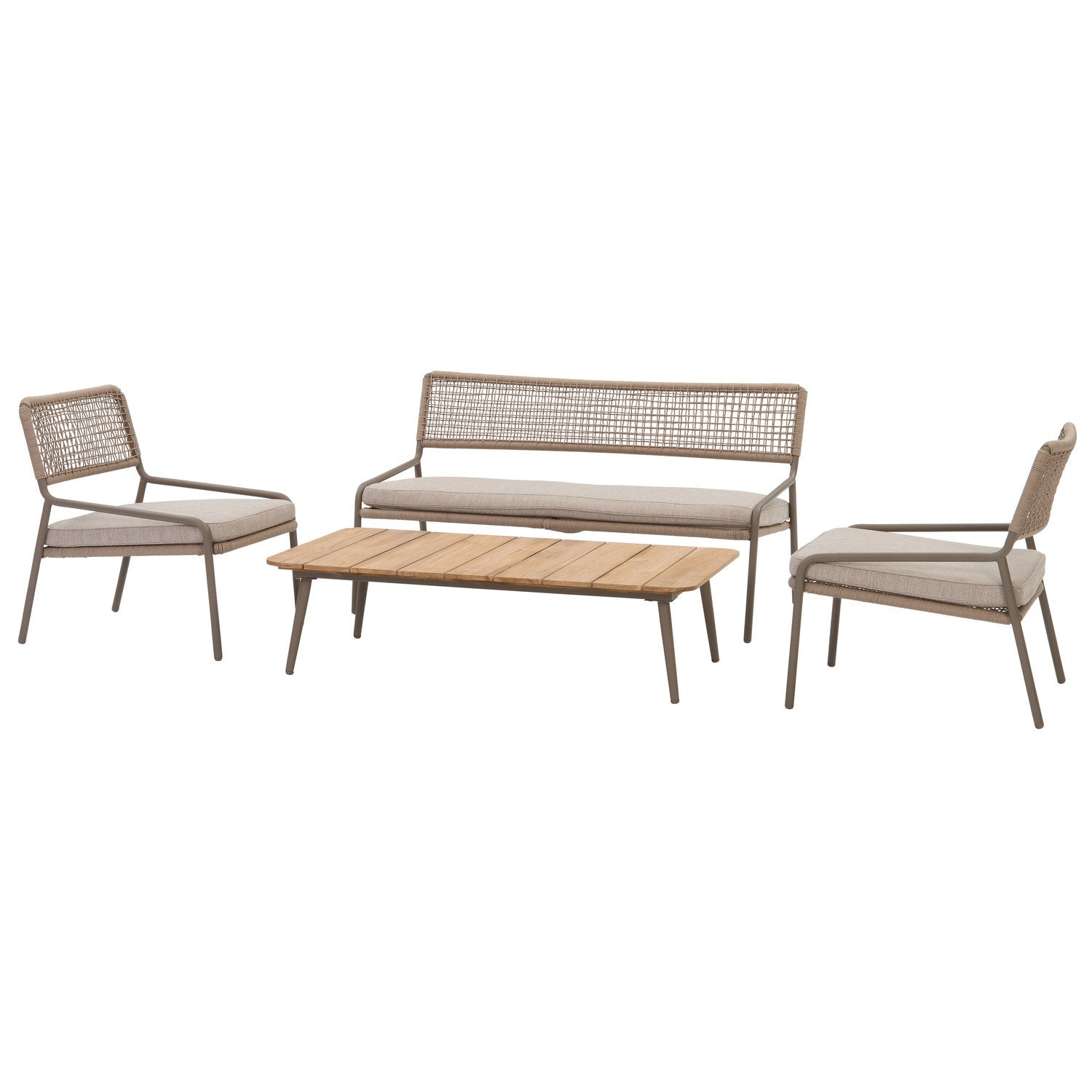 Intratuin 4-zits loungeset Milan touw taupe