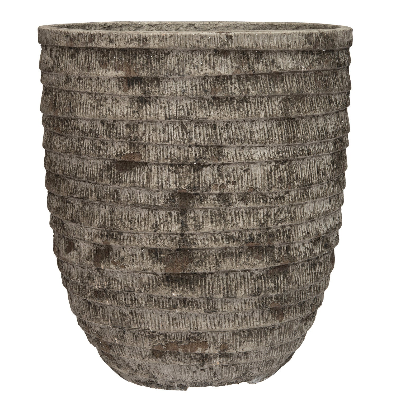 Intratuin bloempot Jan grijs D 31 H 34 cm