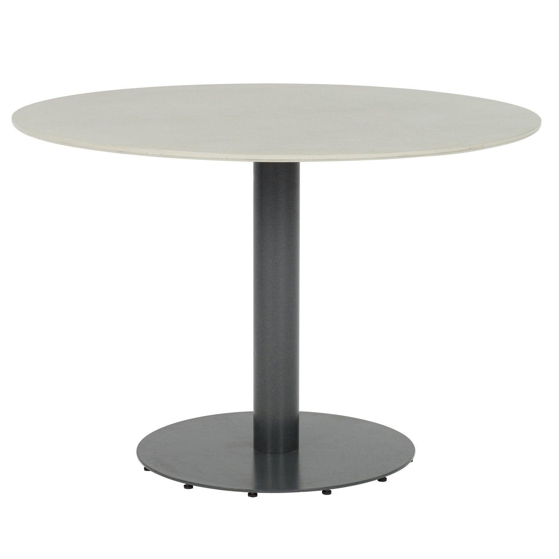 Intratuin eettafel Liv grijs D 110 H 75 cm