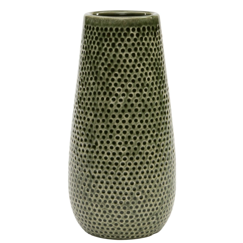Intratuin vaas Bubbel groen D 12 H 26 cm