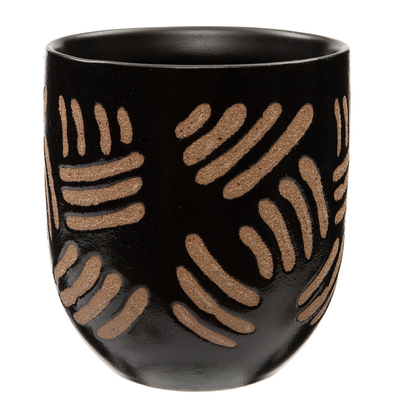 Intratuin bloempot Dio zwart D 10,5 H 11,5 cm