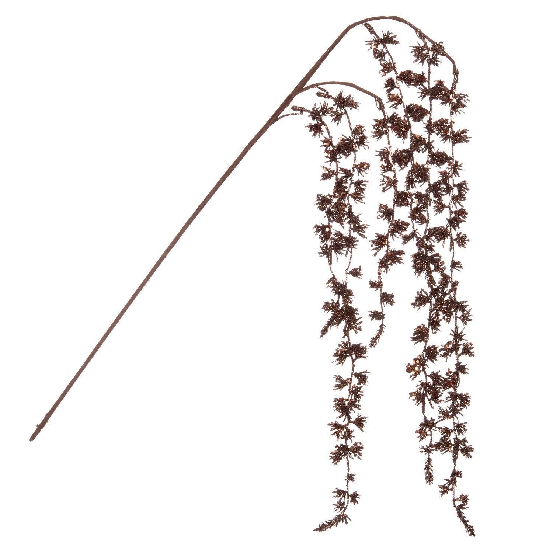 Intratuin kersttak treurwilg met glitter bruin 60 cm