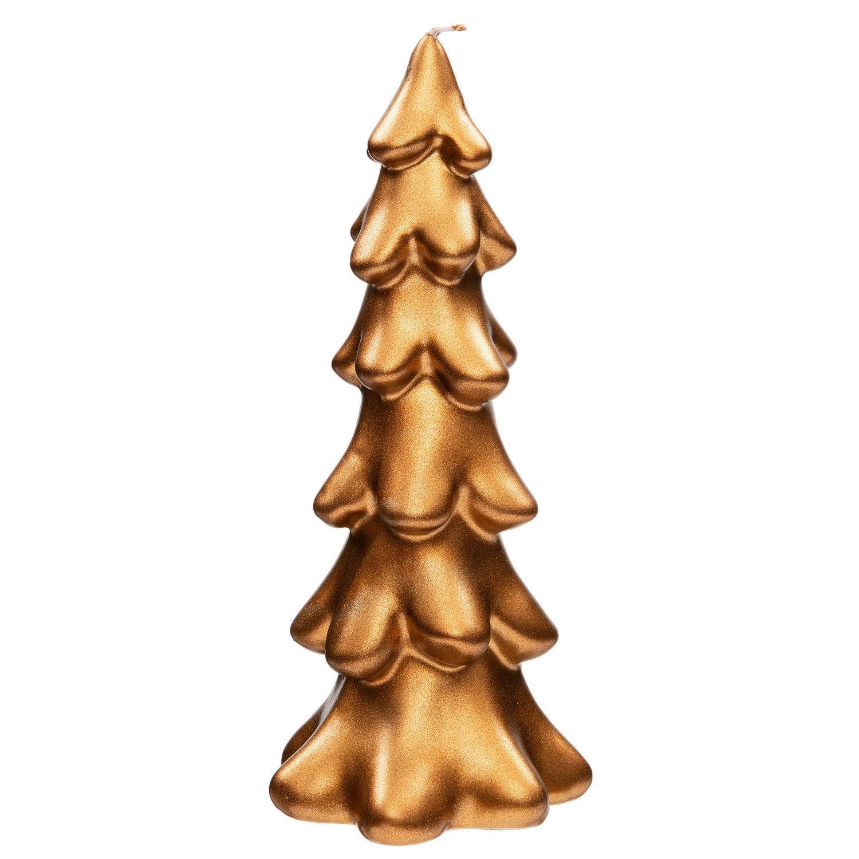 Intratuin kaars kerstboom smal koper D 6 H 17 cm