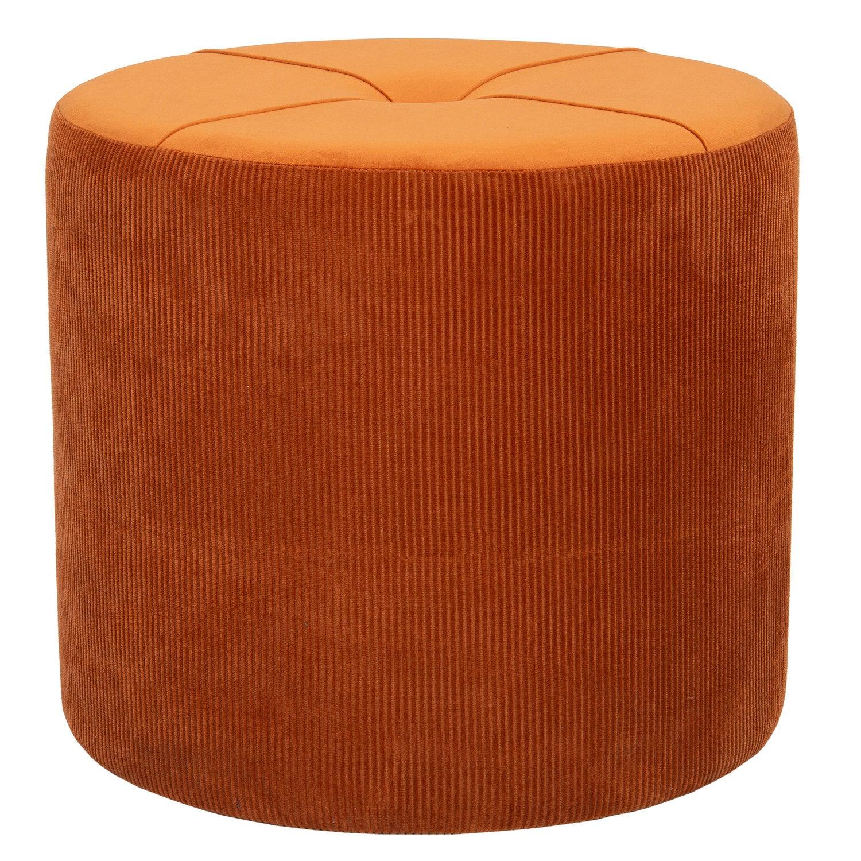 Intratuin poef Hazel Rib terracotta D 40 H 38 cm