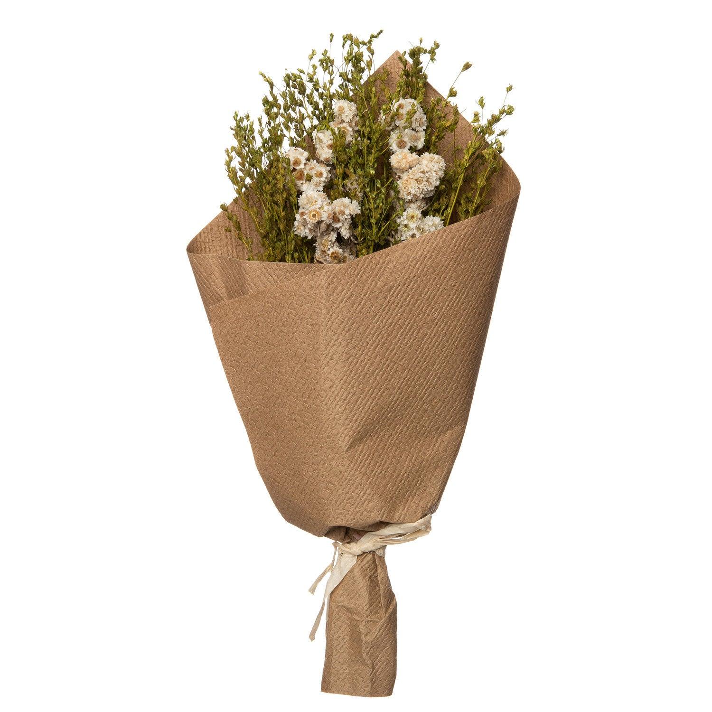 Intratuin droogbloemen wit 30 x 15 x 15 cm