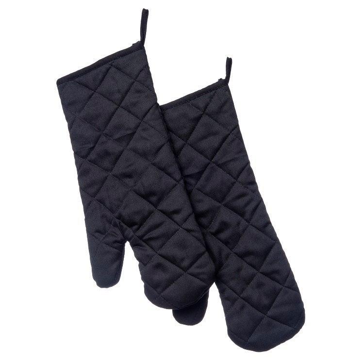 Intratuin barbecuehandschoenen zwart 2 stuks
