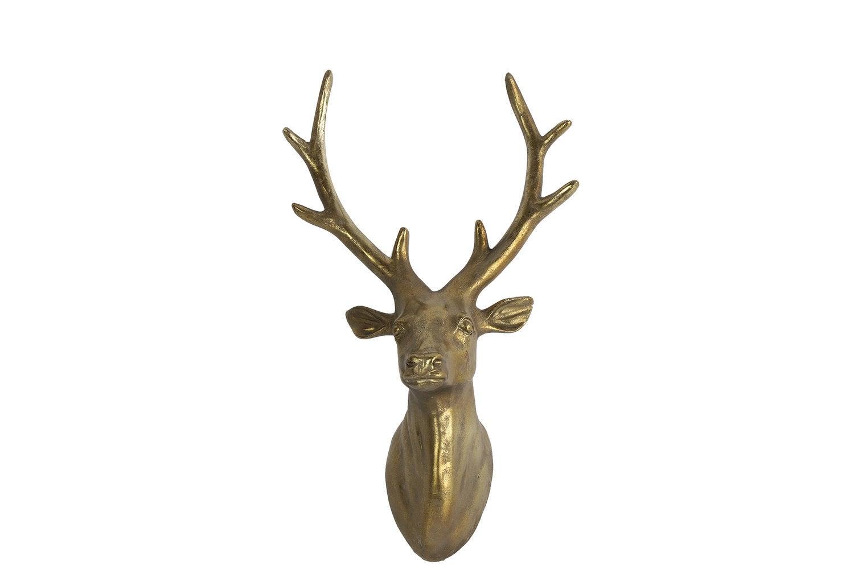 Countryfield wandhanger hert goud 13 x 32 x 40 cm