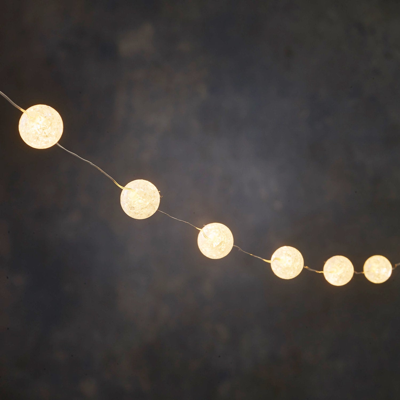 Luca Lighting lichtsnoer bal 3 m met 30 LED lampjes warm wit