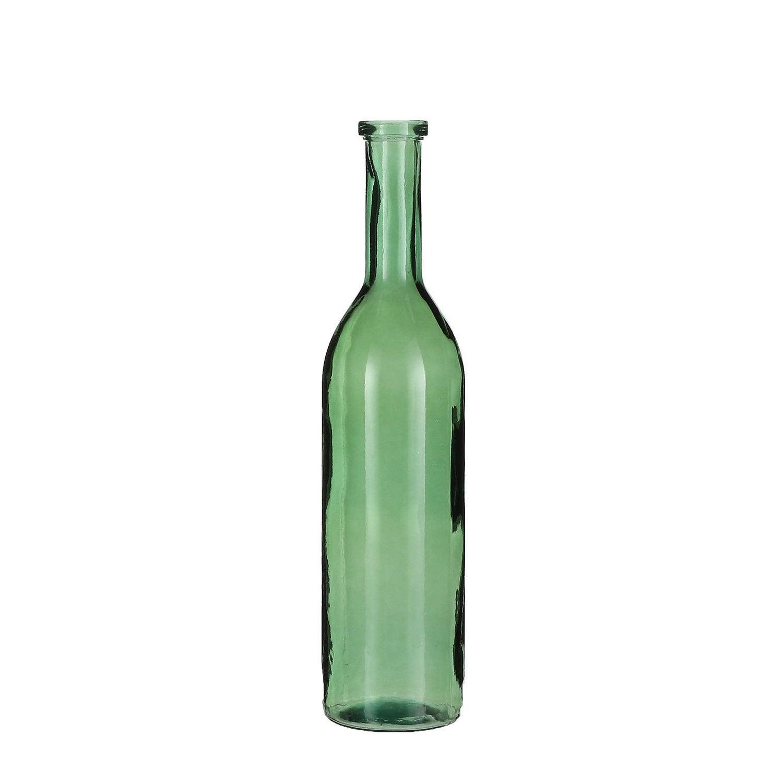 Mica Decorations kerst woonaccessoires Rioja fles groen D 18 H 75 cm